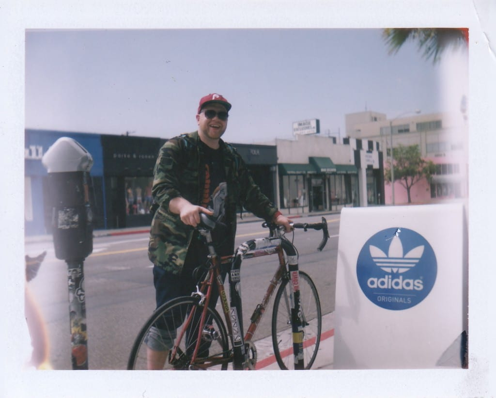 Adidas employee and über cyclist on Melrose Avenue