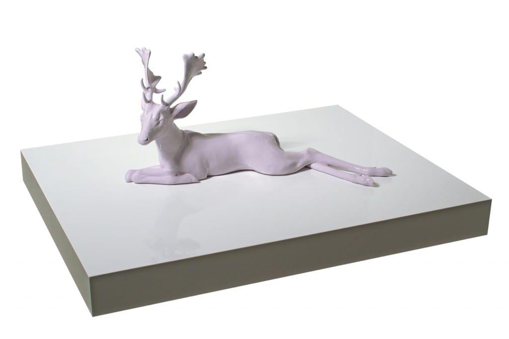 "Tia Pulitzer, It's Not Me, It's You, clay, automotive finish, MDF, laquer, 18.5 x 38.25 x 21"", 2007"