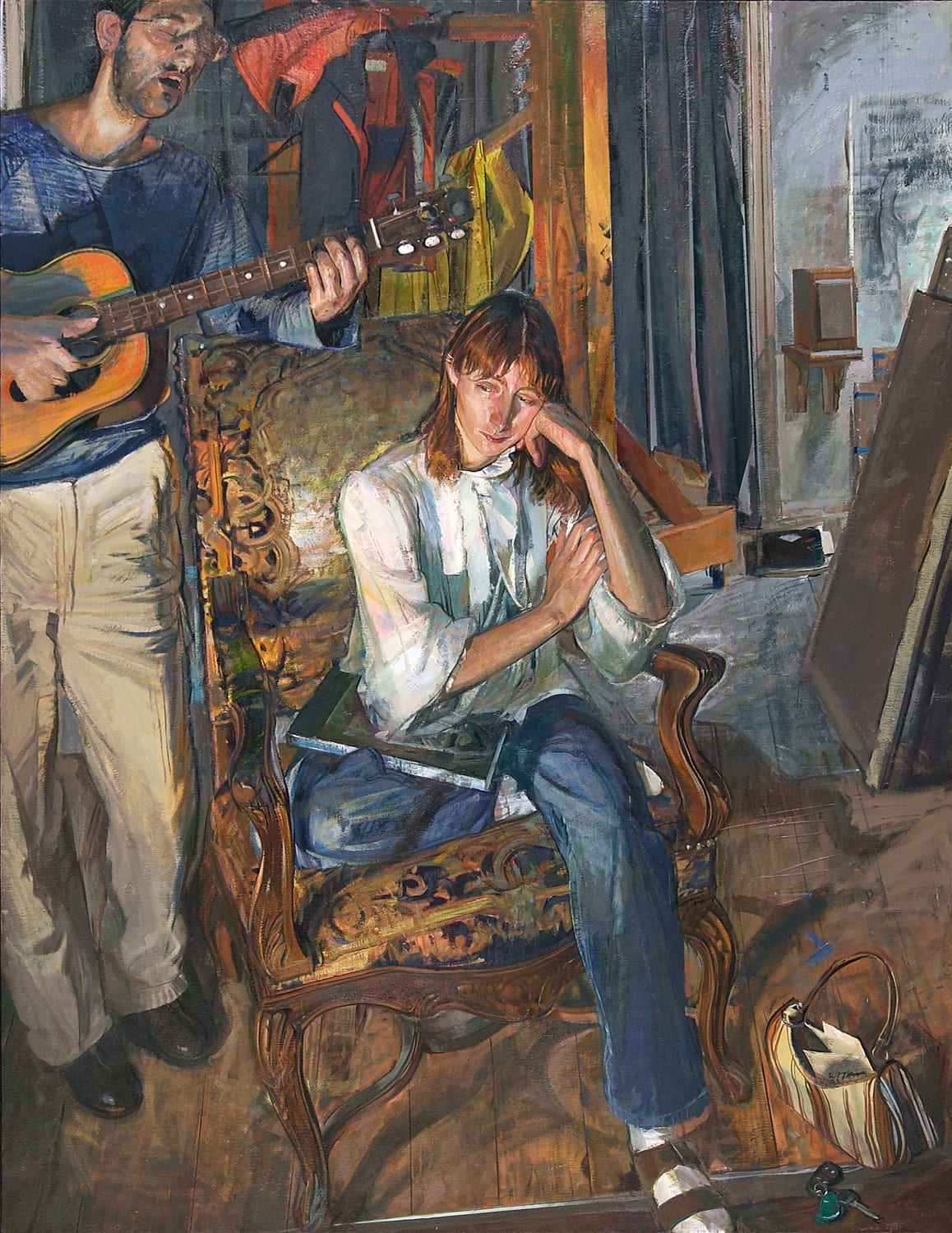 """Jerome Witkin, Keep Me in Your Heart for Awhile, oil on canvas, 72 1/4"""" x 56"""", 2003-04."""