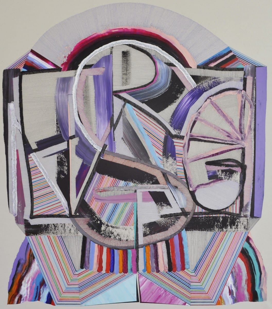 "Feodor Voronov, Estrange, acrylic, marker and ballpoint pen on canvas, 31"" x 29"", 2012"