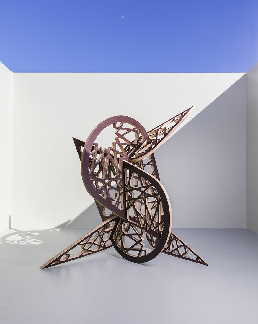 "Sherin Guirguis, Untitled (el sokareya), plywood, 84"" x 84"" x 88"", 2013"