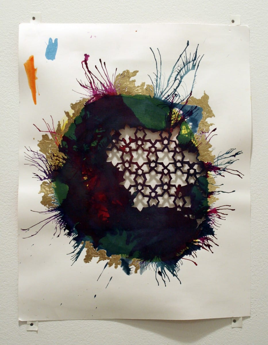 "Sherin Guirguis, Untitled, Mixed Media, 37"" x 15"", 2013"