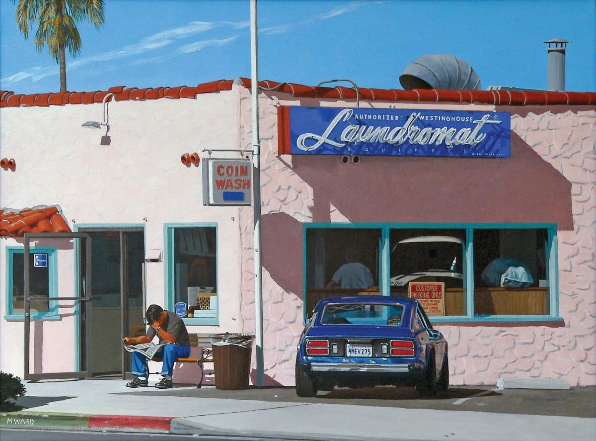 "Michael Ward, Waiting for the Laundry #2 (Newport Beach, CA), acrylic on canvas, 18"" x 24"", 2007"