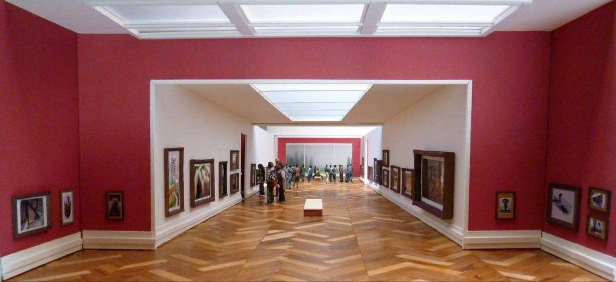 Kenji Sugiyama, Institute of Intimate Museums / Viewer -Outside-, mixed media (mirror, frame, diorama), 2005