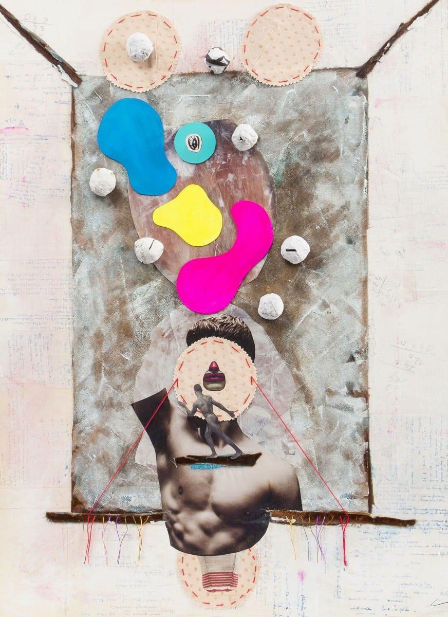 Vincent Junier, Résonance, collage sur carton, 800 mm. x 570 mm,, 2013