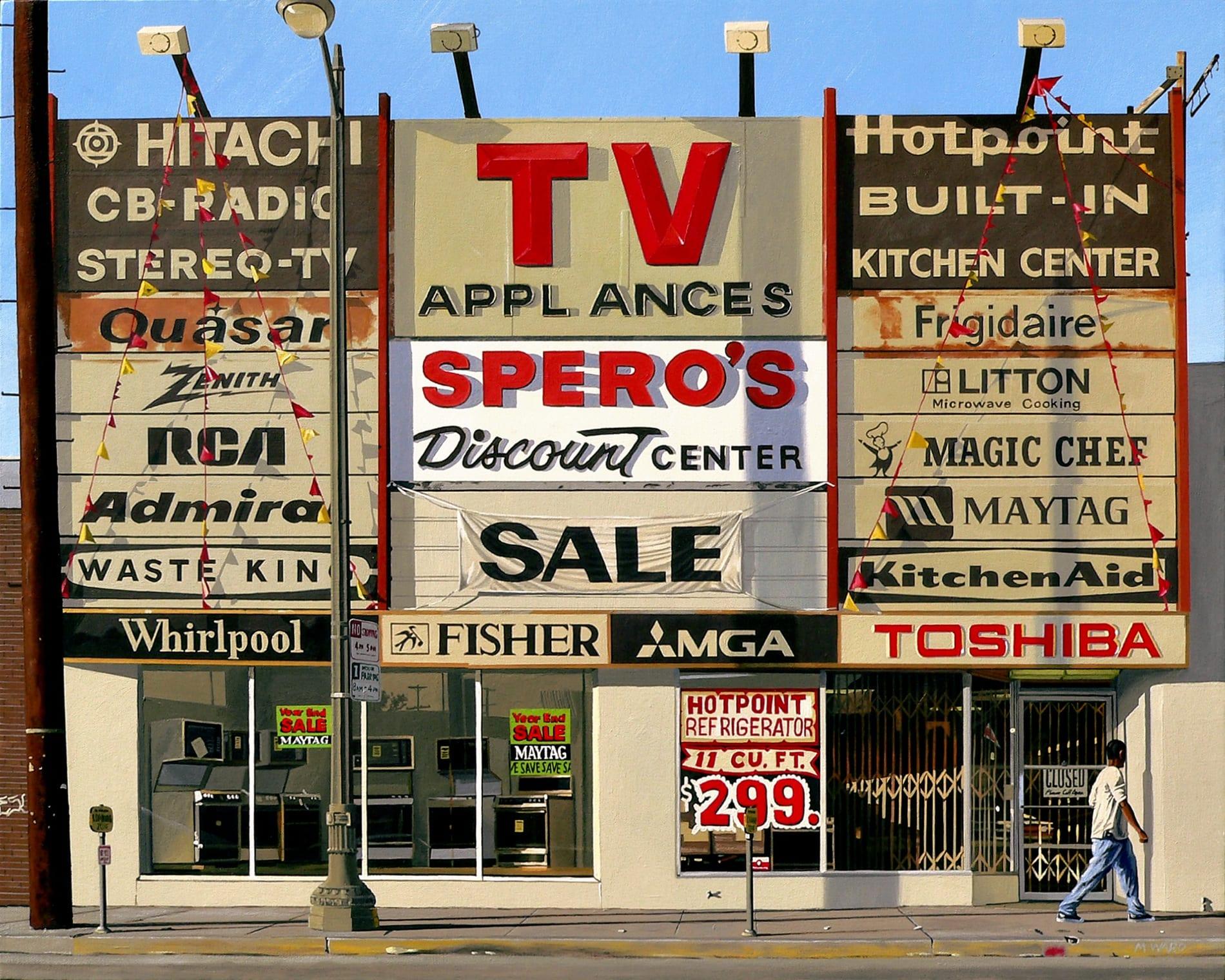 "Michael Ward, Speros (Torrance, CA), acrylic on canvas, 24"" x 30"", 2008"