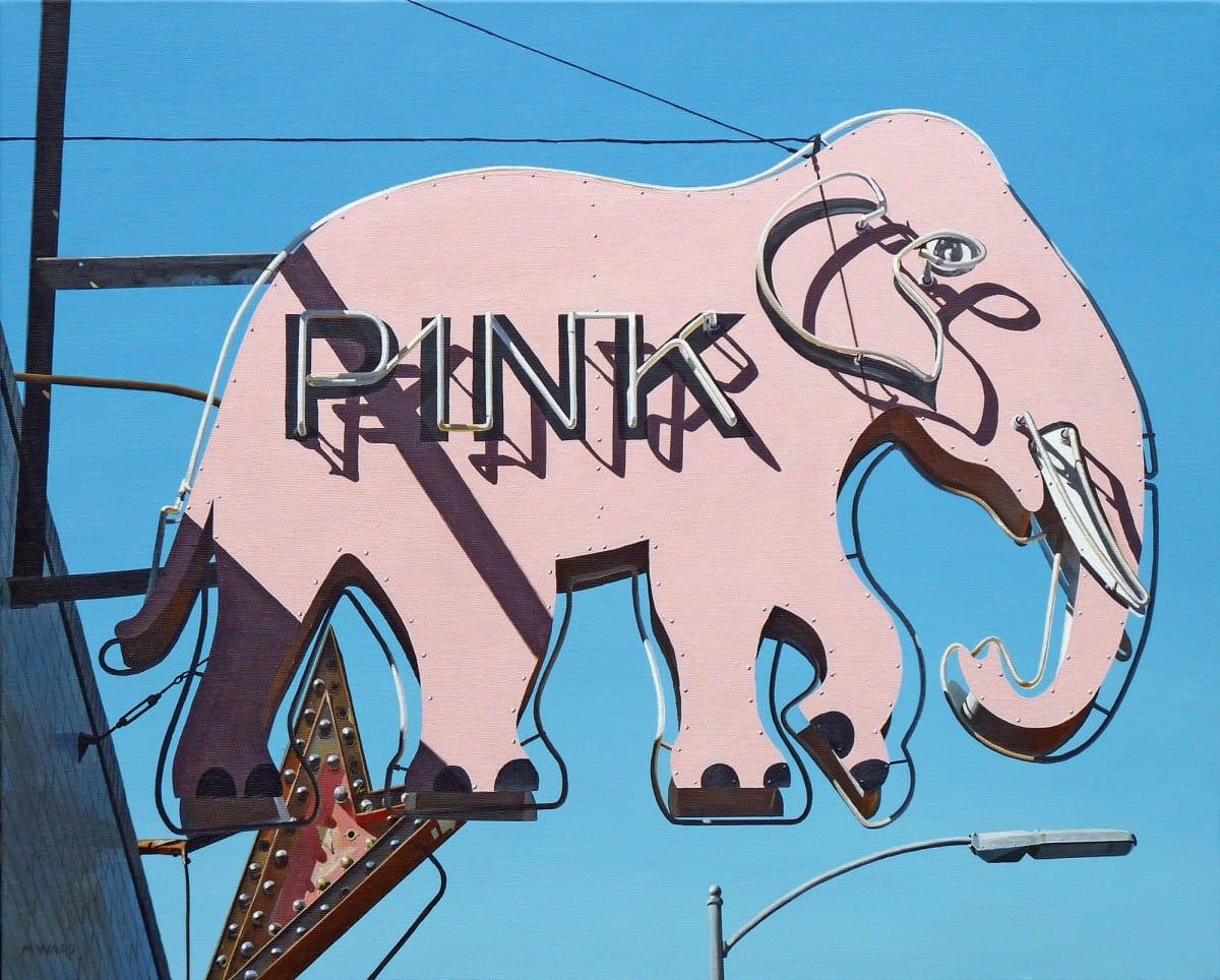 "Michael Ward, Pink #3 (Long Beach, CA), acrylic on canvas, 24"" x 30"", 2011"