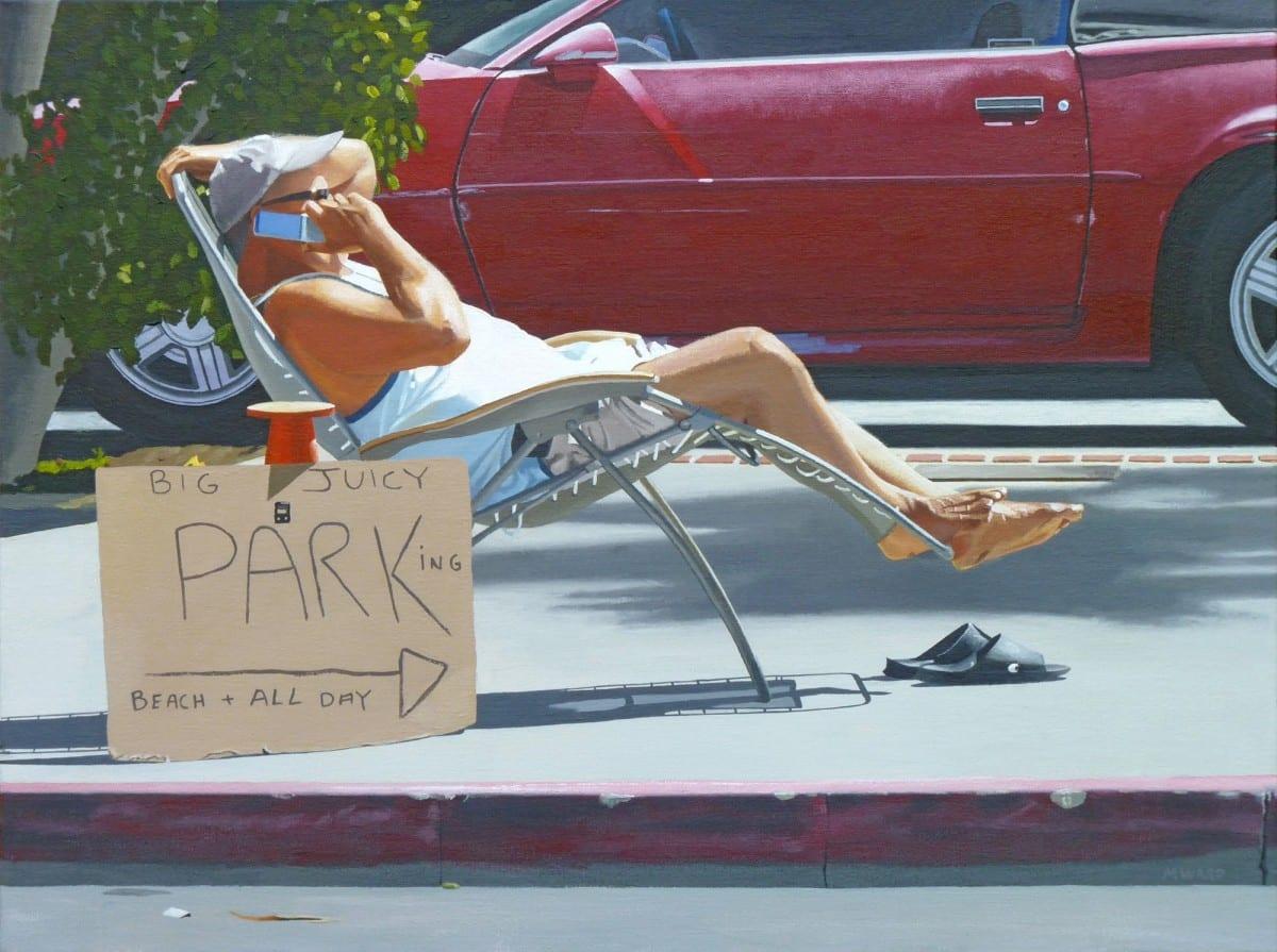 "Michael Ward, Nice Work if You Can Get It (Laguna Beach, CA), acrylic on canvas, 24"" x 36"", 2013"