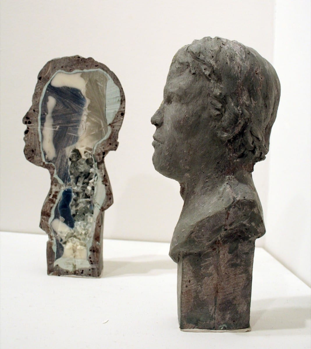 "Norm Paris, Geode (Arnold), Forton MG, metal powder, pigment, resin, glass, 9"" x 4"" x 5"", 2011"