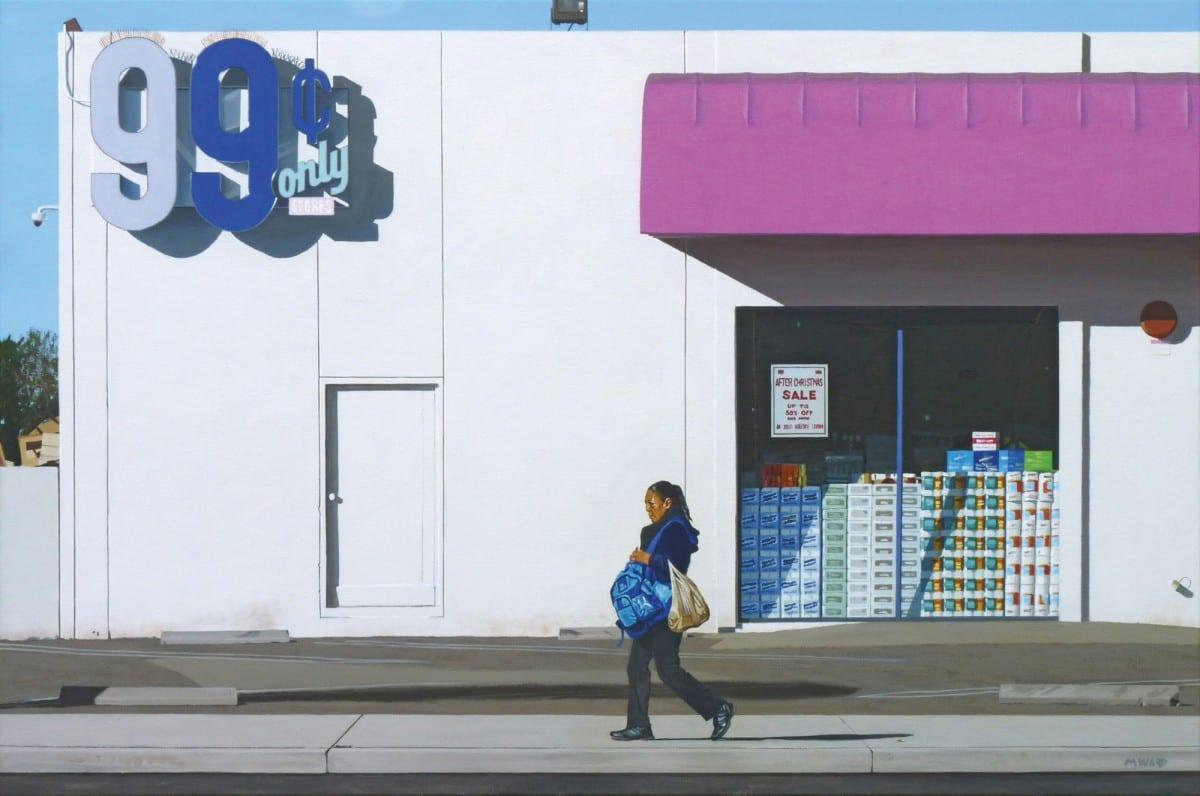 "Michael Ward, The 99 (Garden Grove, CA), acrylic on canvas, 24"" x 36"", 2013"