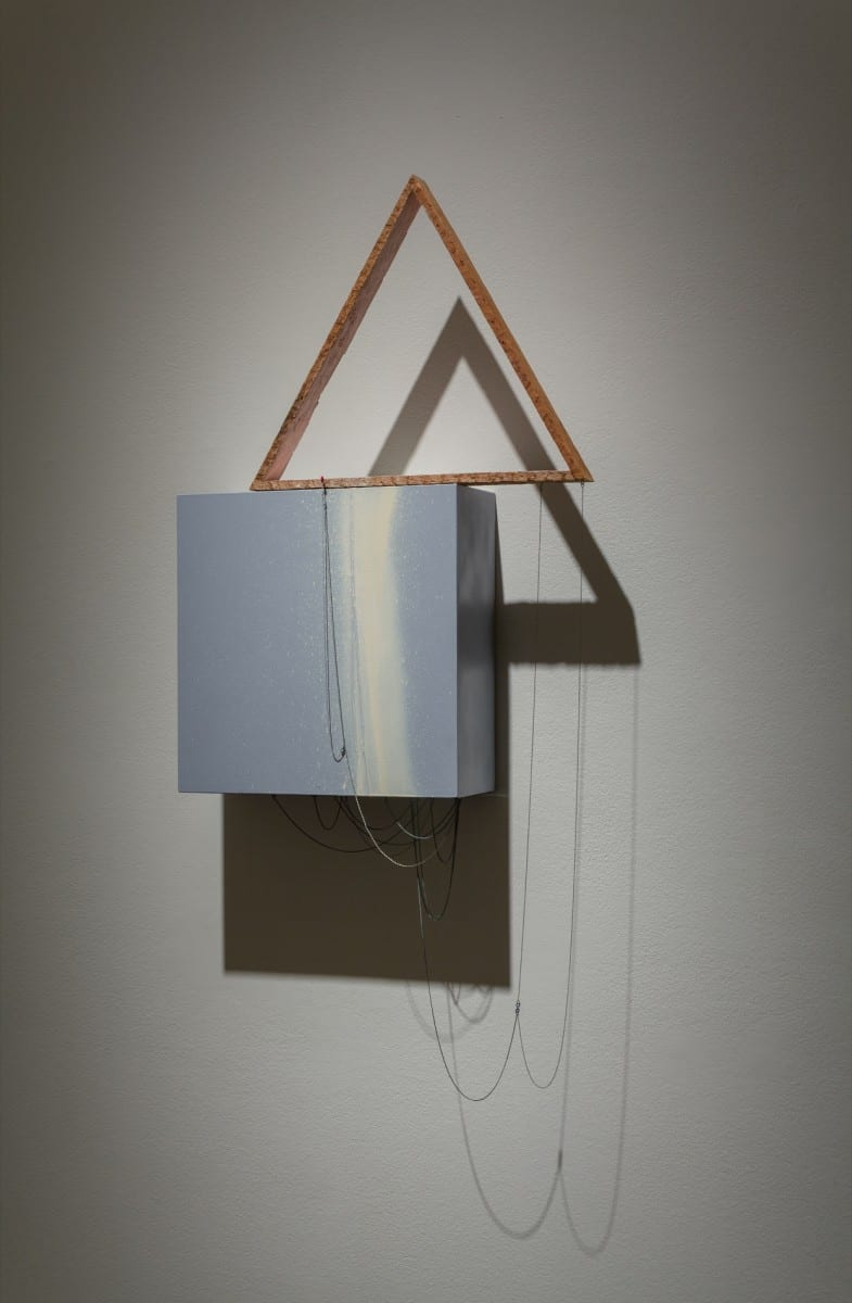 "Alison O'Daniel, The Plants are Protected, wood, chain, paint, 21"" x 24"" x 5"", 2012"
