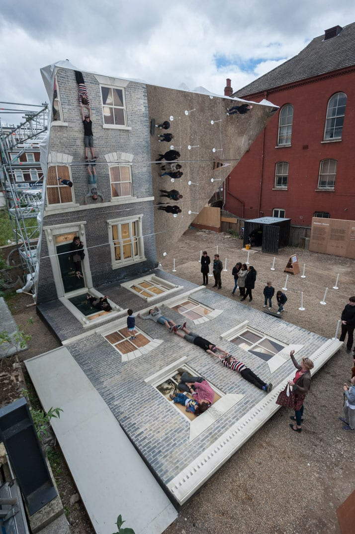 Leandro Erlich: Dalston House Installation images © Gar Powell-Evans 2013 Courtesy of Barbican Art Gallery