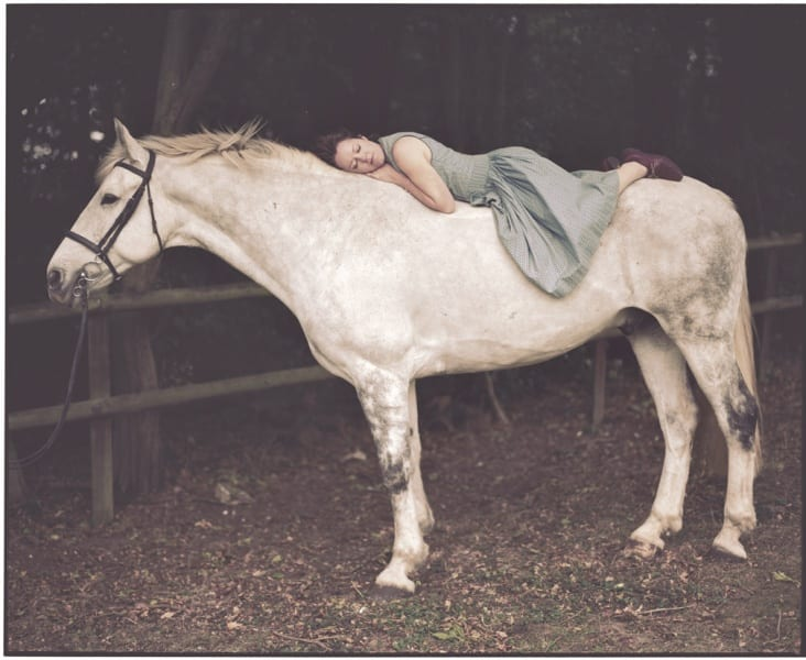 Vikram Kushwah, Emily and the White Horse, limited edition color photograph of 8, 60cm x 50cm