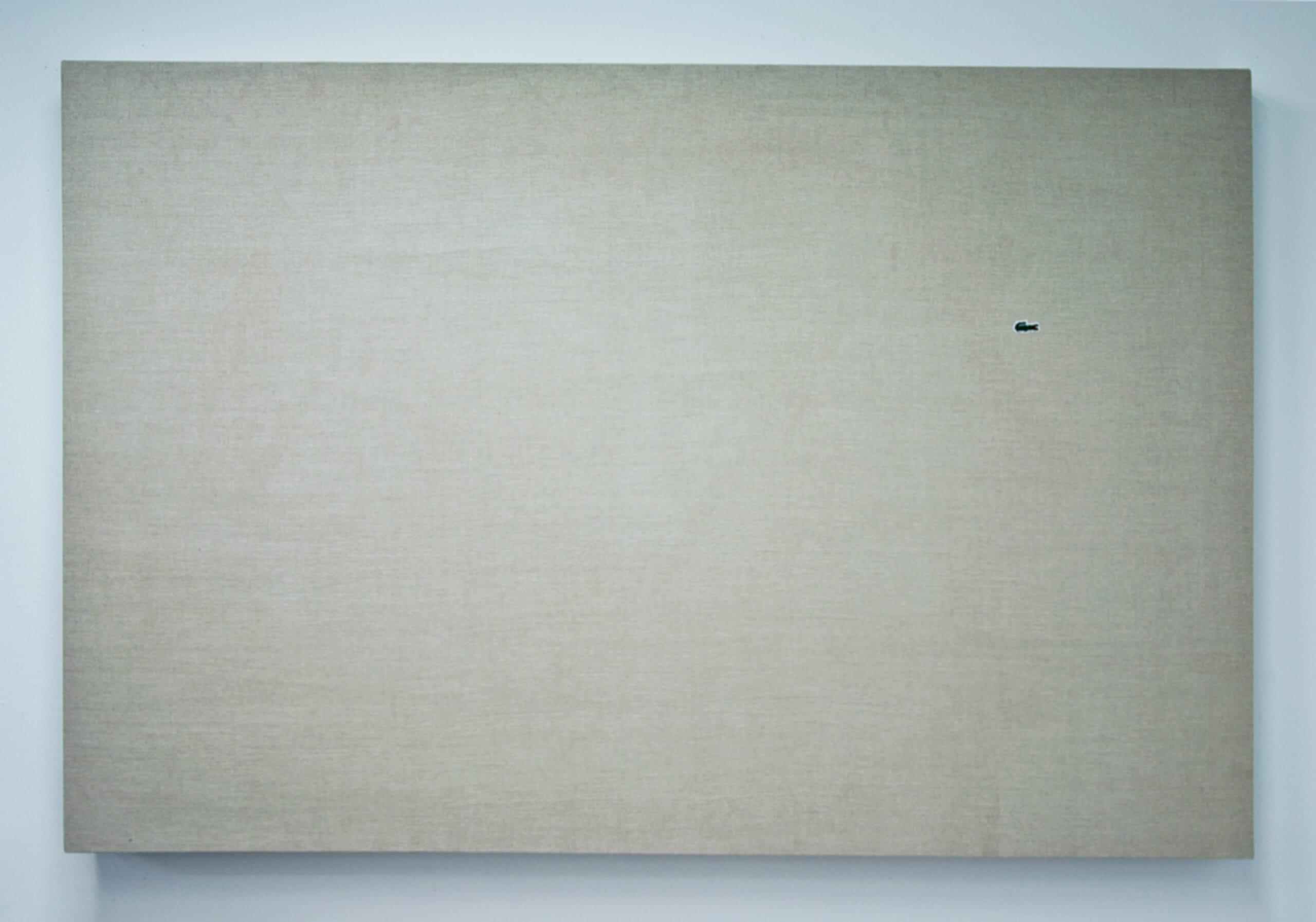 Jason Guo, My Canvas Is Better Than Your Canvas, Belgian linen, poplar, thread, 183 x 122 x 6 cm, 2012