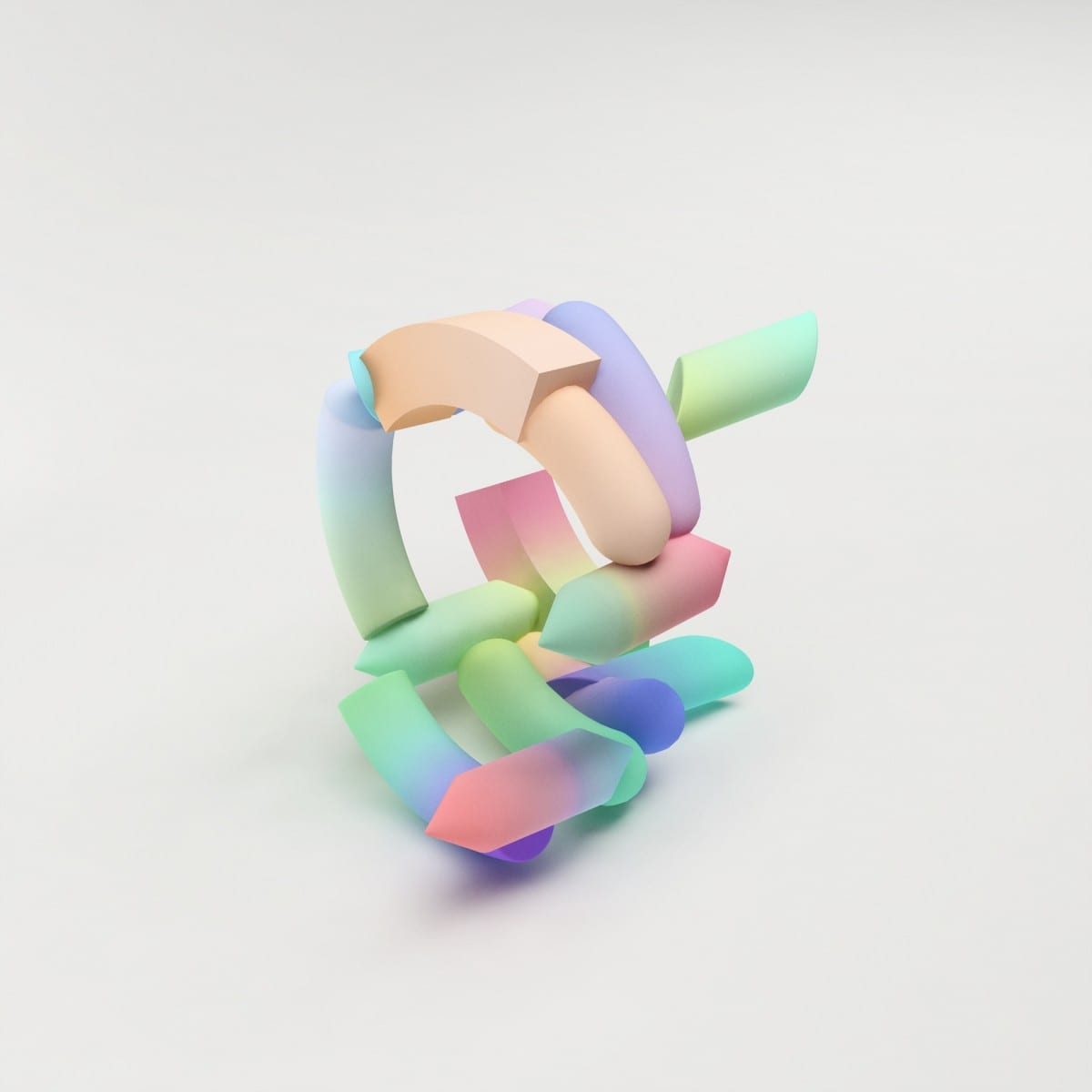 Maiko Gubler, Gradient Bangles, Limited Endless Edition No. 07, digital model/ dimensions variable, 2013