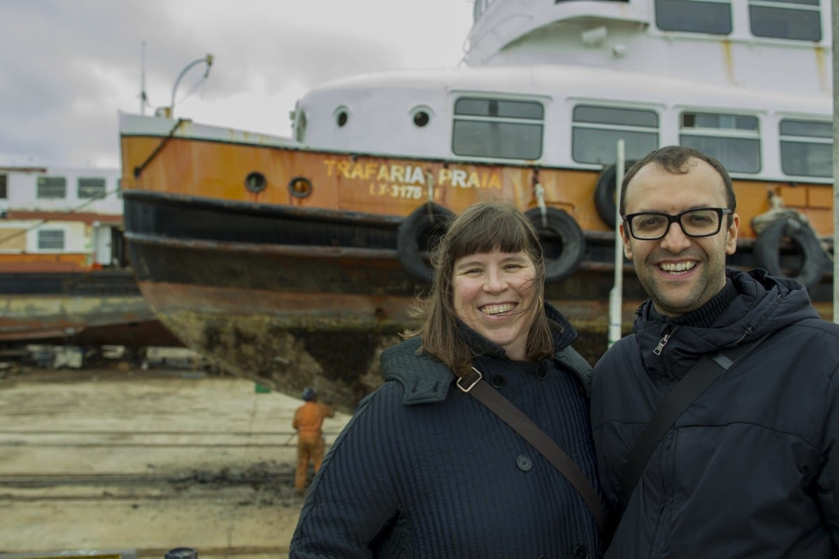 Artist Joana Vasconcelos and Curator Miguel Amado, 2013.