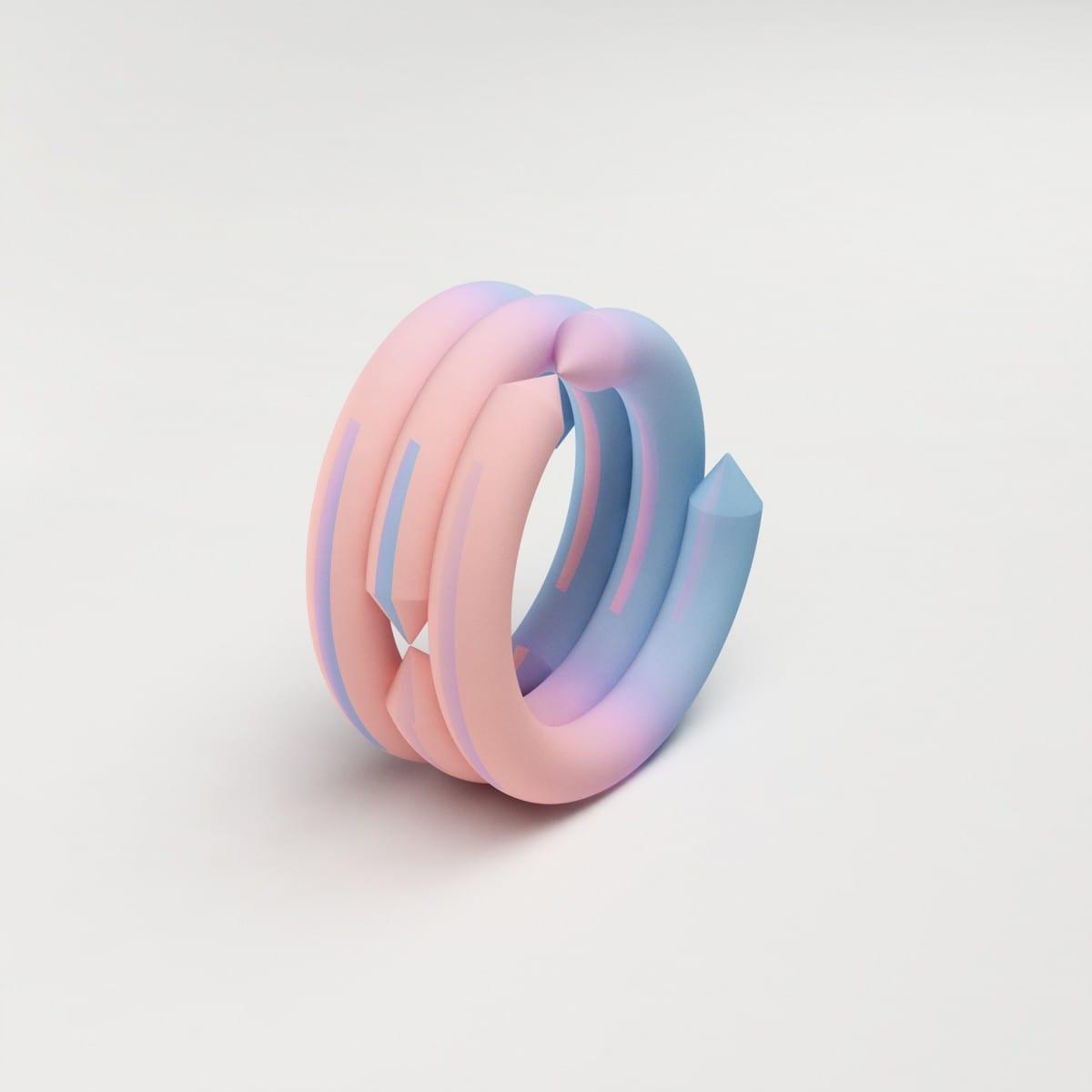 Maiko Gubler, Gradient Bangles, Cone, digital model/ dimensions variable, 2013
