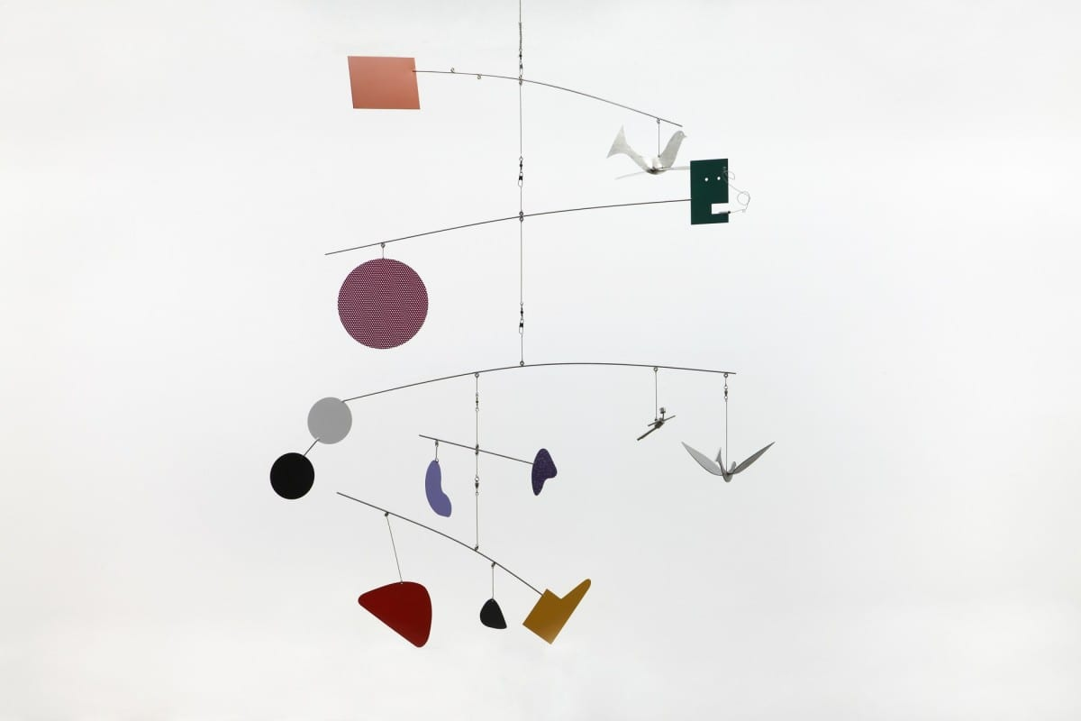 "Peter Shire, Love and Water, steel and polyurethane enamel, 55"" x 44"", 2012"