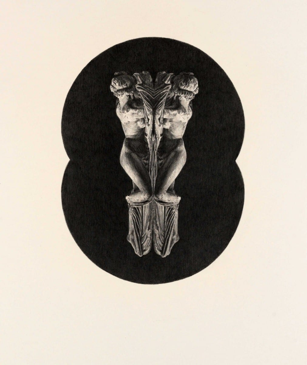Mat Chivers, Perceptual Ecology, pencil on paper, 136 x 101 cm (apple bough), 75 x 55 cm (hermaphrodite), 2011 © Peter Thorpe