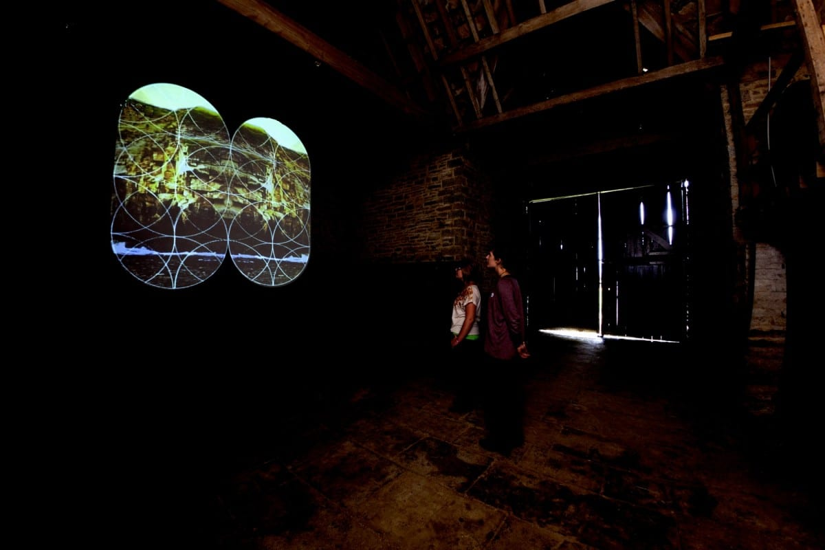 Mat Chivers, Overlay, HD digital film, 10 min 10 sec, Installation view at Spyway Barn as part of the project ExLab, 2012