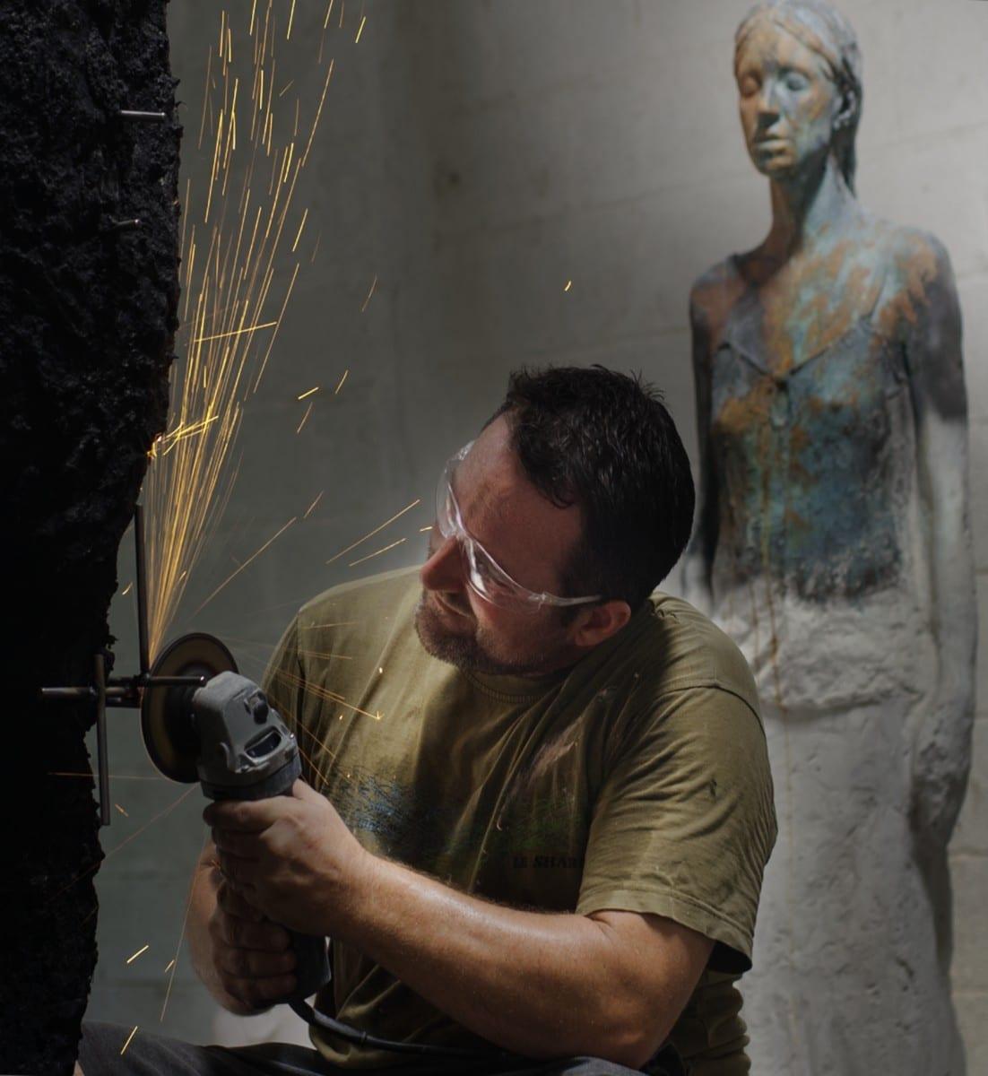 Self portrait in studio, 2013 © Jason deCaires Taylor
