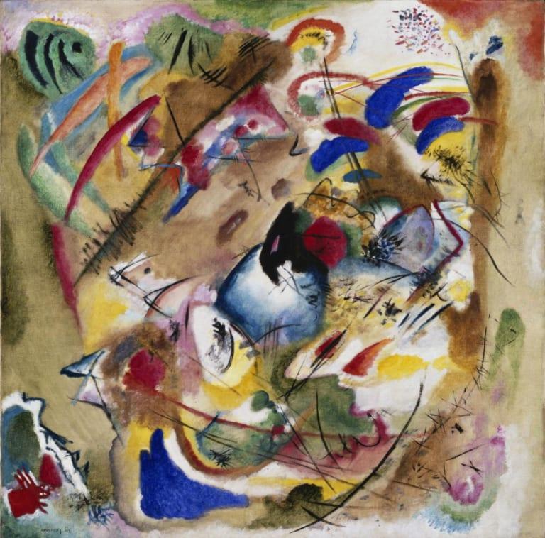 Wassily Kandinsky, Dreamy Improvisation, Oil on canvas, 1913, bpk, Berlin / Pinakothek der Moderne, Bayerische Staatsgemaeldesammlungen, Munich / Art Resource, NY / Kandinsky, Wassily (1866-1944) © ARS, NY, Pinakothek der Moderne, Bayerische Staatsgemäldesammlungen, Munich