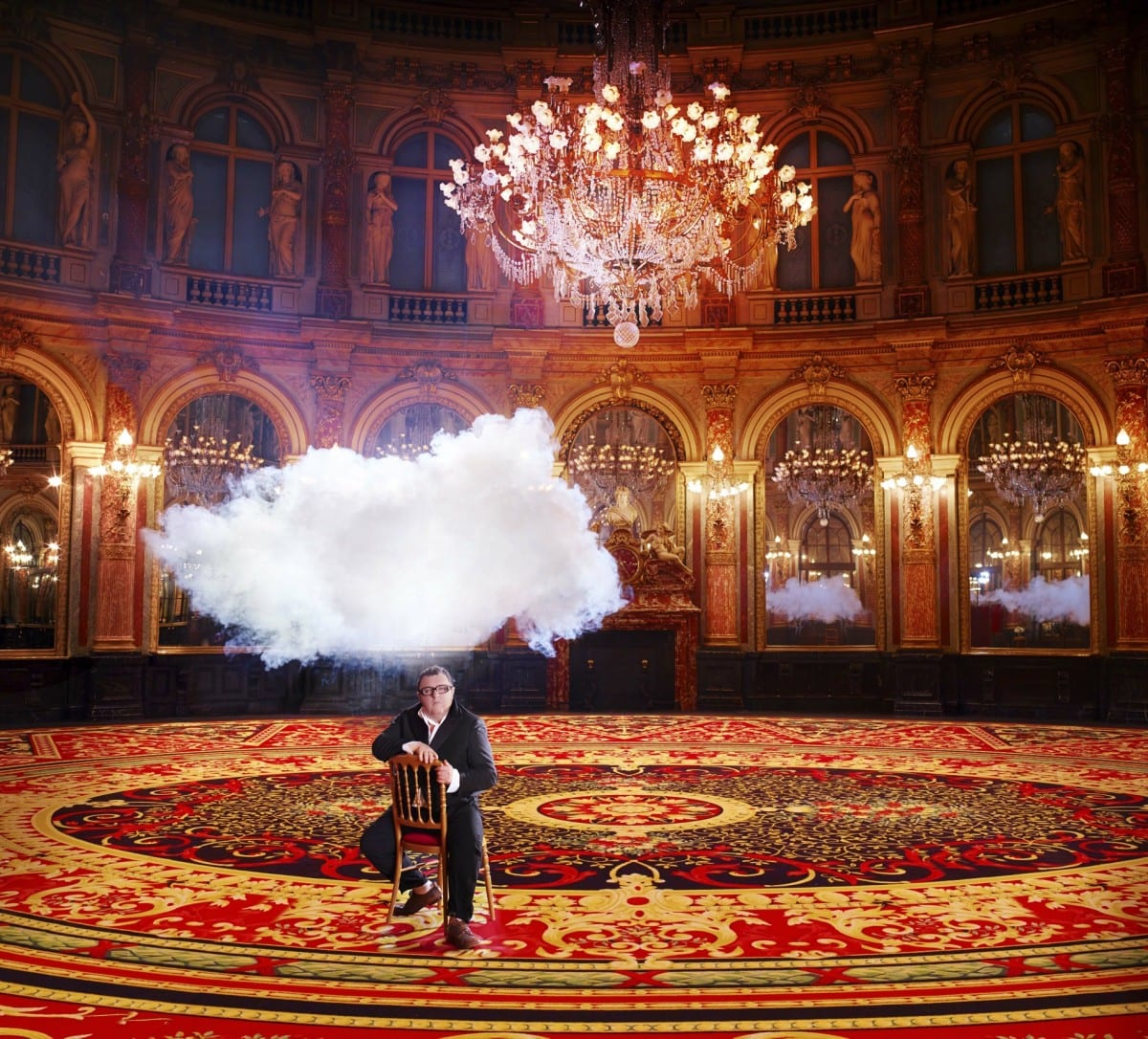Berndnaut Smilde, The In Cloud- Alber Elbaz, 2013, courtesy of the artist, Harper's Bazaar and Ronchini Gallery.  Photo © Simon Procter