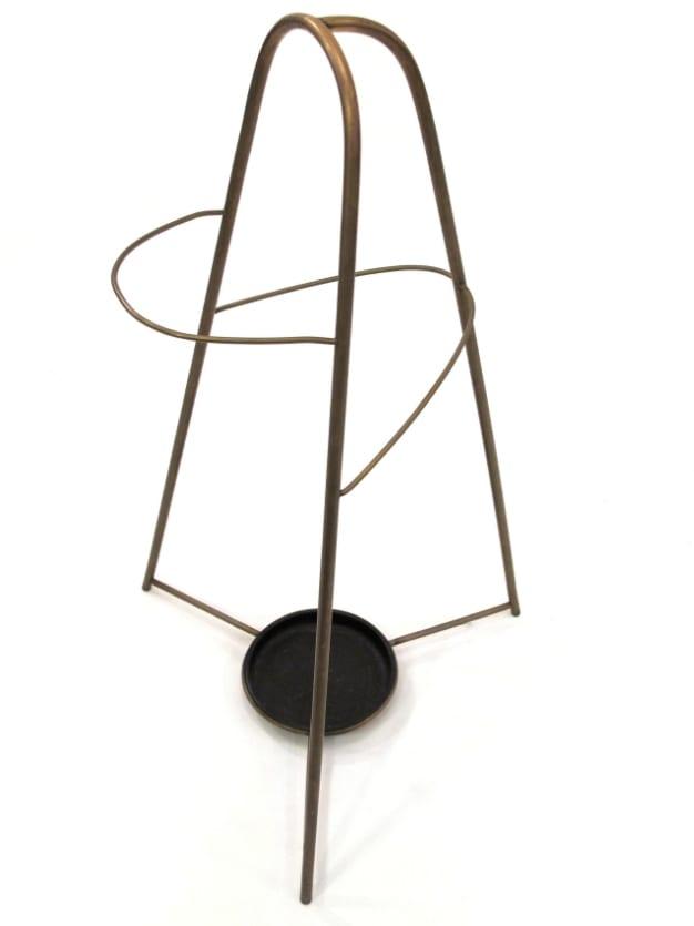 "Carl Auböck, Umbrella Stand, brass and iron, 25"" x 15"" x 16"", ca. 1950, Mondo Cane"
