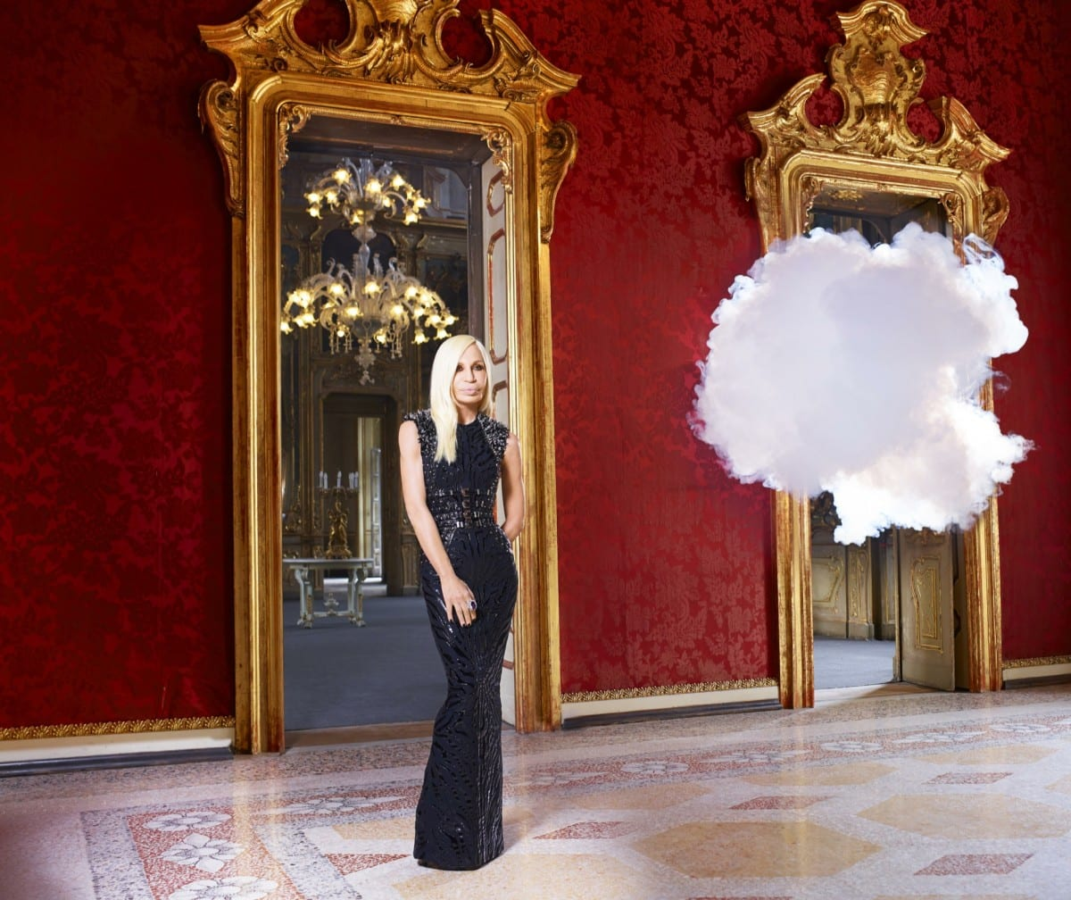Berndnaut Smilde, The In Cloud- Donatella Versace, 2013, courtesy of the artist, Harper's Bazaar and Ronchini Gallery.  Photo © Simon Procter