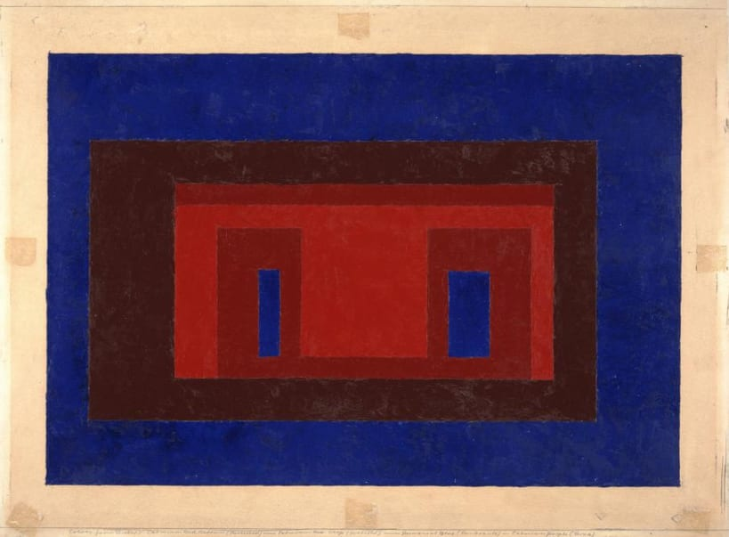Josef Albers,Variant/Adobe, oil on composition board