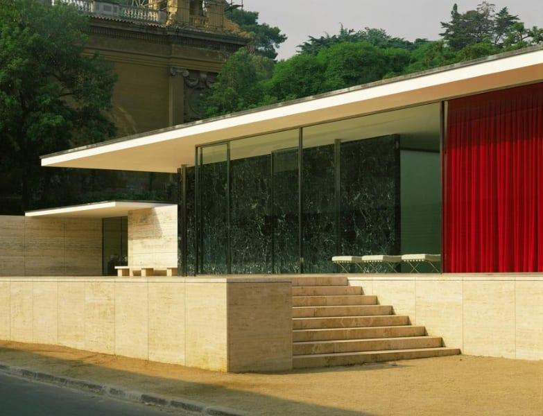 Mies Van Der Rohe, German pavillion for the International Art Exhibit, 1929, Erich Lessing, Art Resource, NY, Mies van der Rohe, Ludwig (1886-1969) © ARS, NY, Exhibition Pavillion, Barcelona, Spain