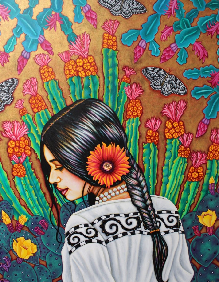 "Pola Lopez, Spiritual Warrior, Acrylic on canvas, 30"" x 48"", 2011"