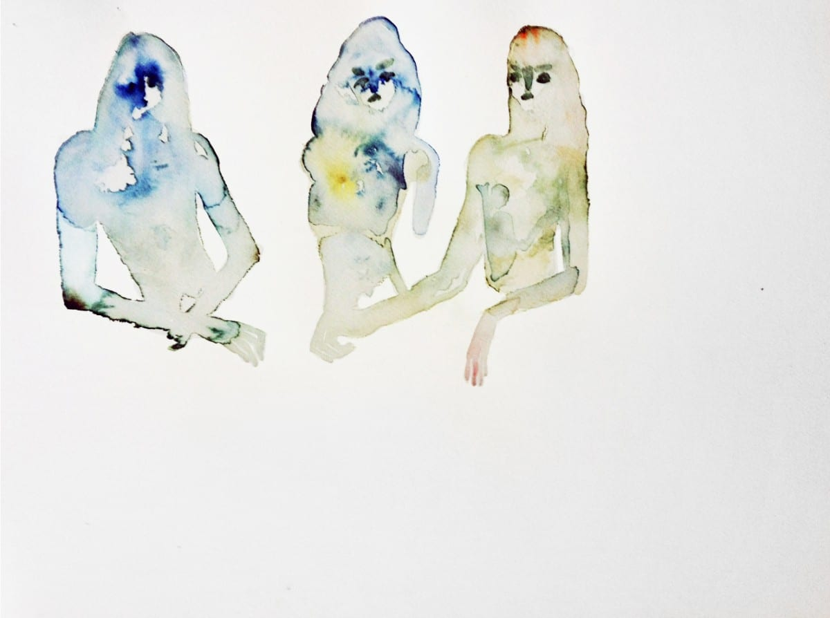 Lola Rose Thompson, People Rolling Their Eyes at the Idiocy of Some Men, watercolor on paper © of the artist and The Tappan Collective