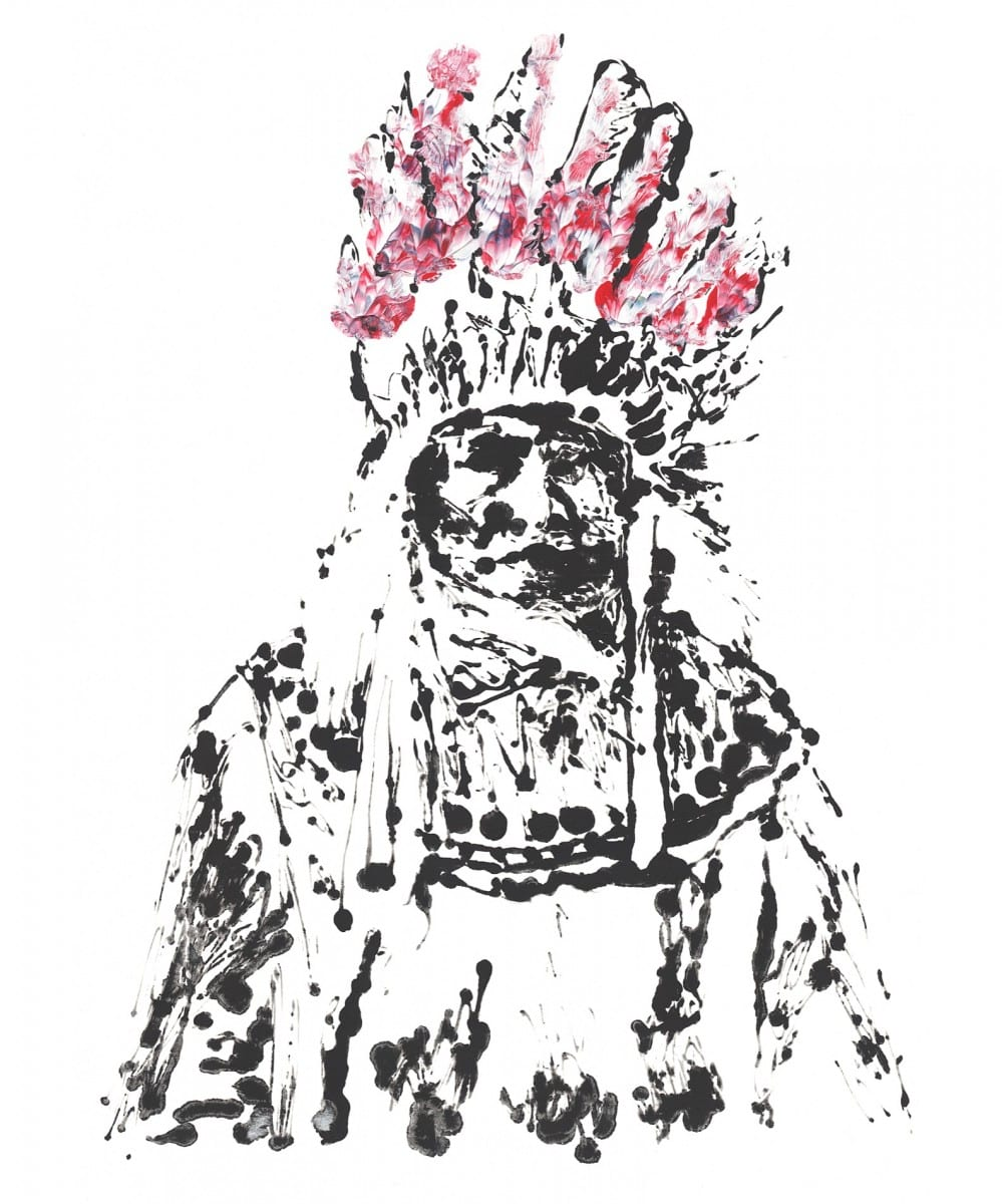 Michael Gittes, Chief Massachusetts, acrylic on Canvas © of the artist and The Tappan Collective
