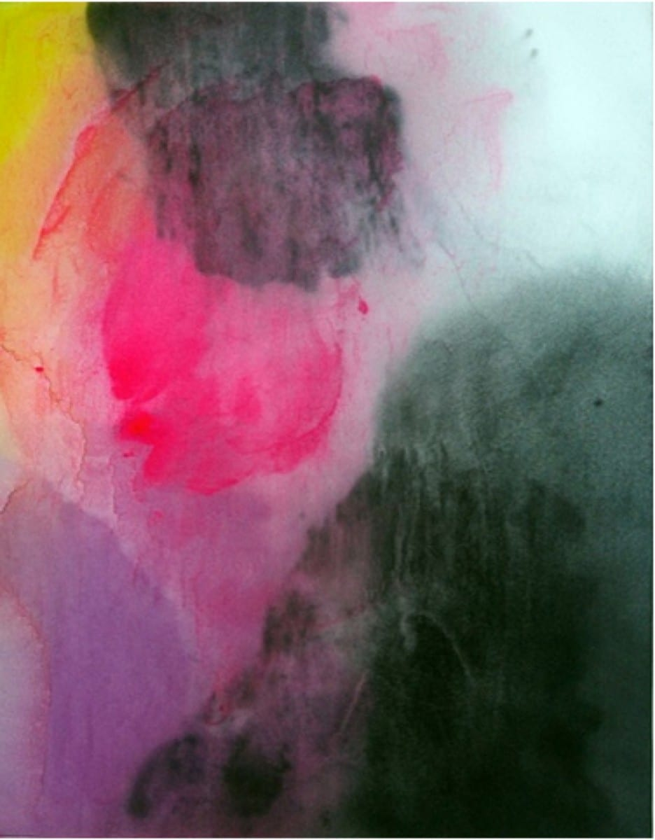 Owen Schmit , Black No 1. II, hair dye and acrylic on satin over panel © of the artist and The Tappan Collective