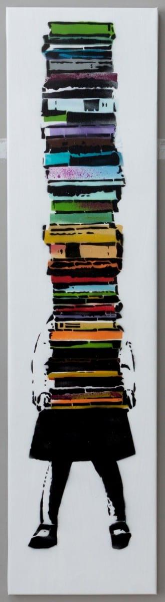 rundontwalk pila de libros
