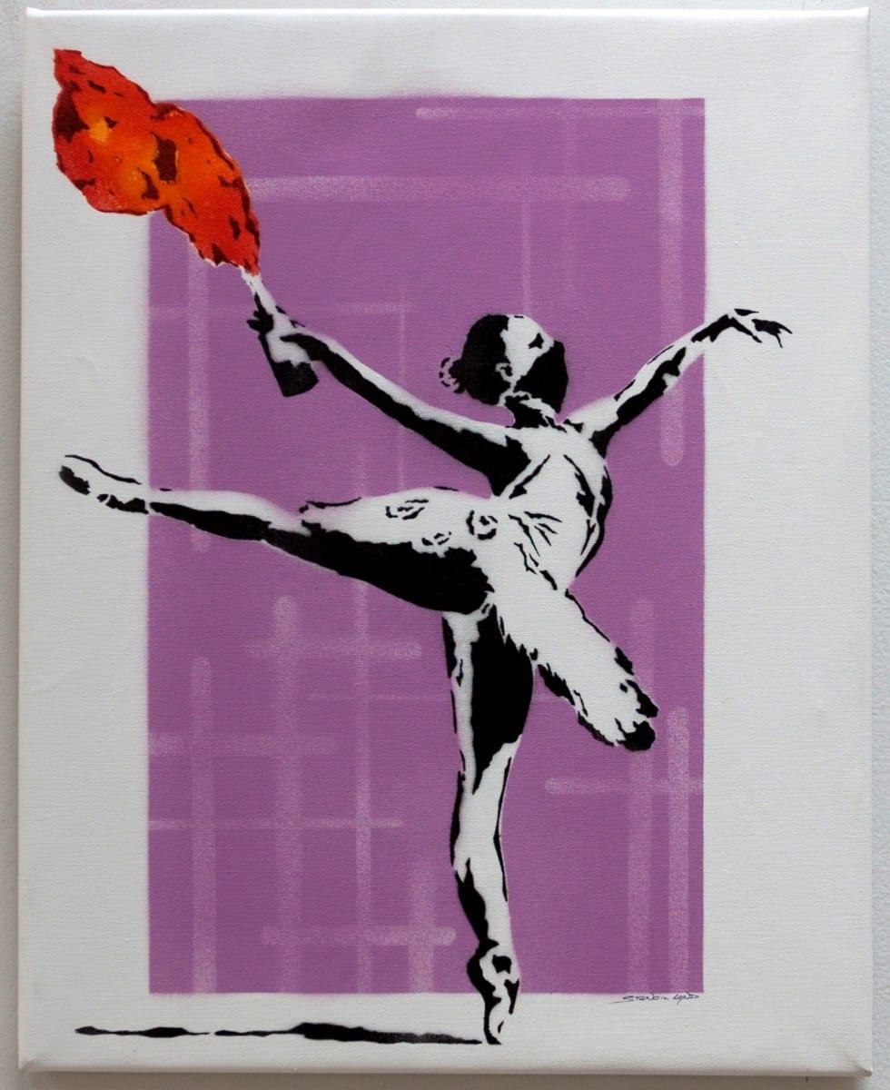 stencil land ballerina