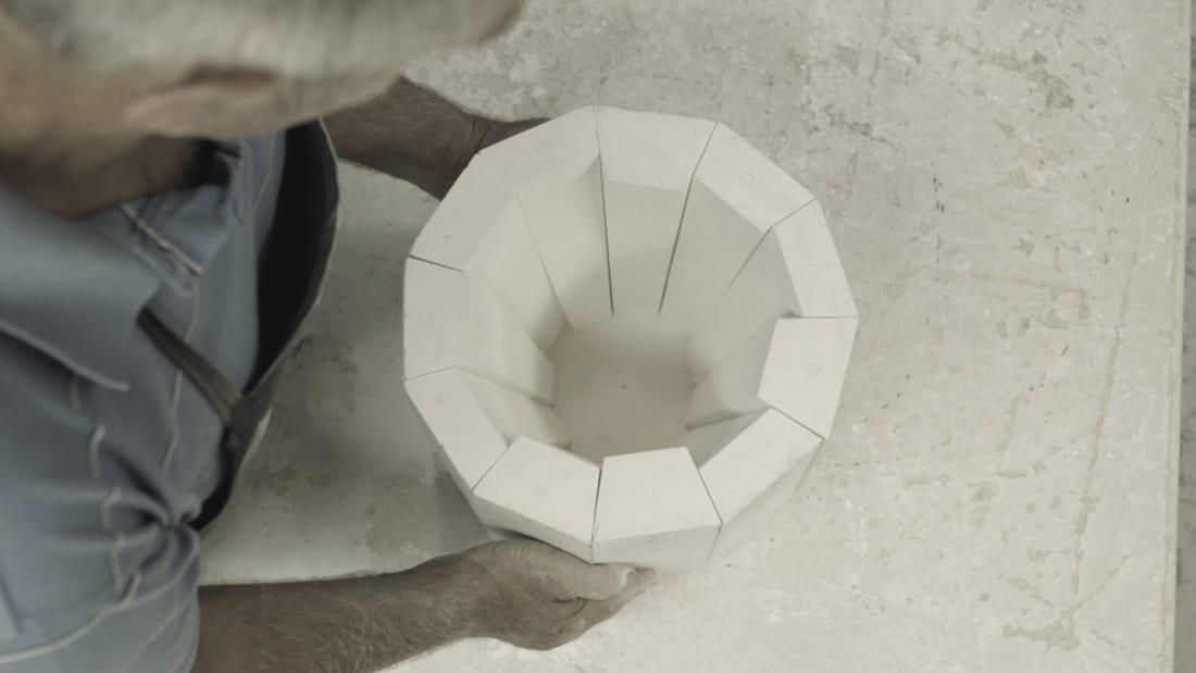 Assembling plaster mould © Phil Cuttance