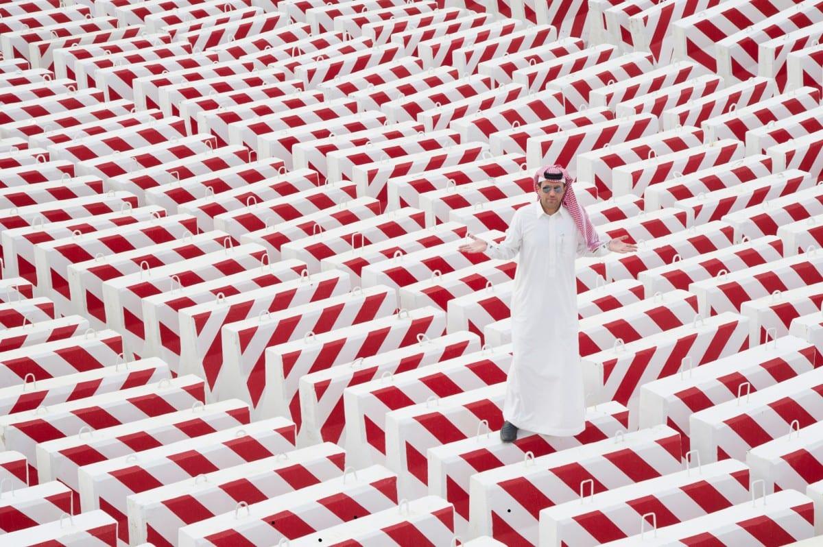 Abdulnasser Gharem, The Concrete Block, © of the artist and Edge of Arabia