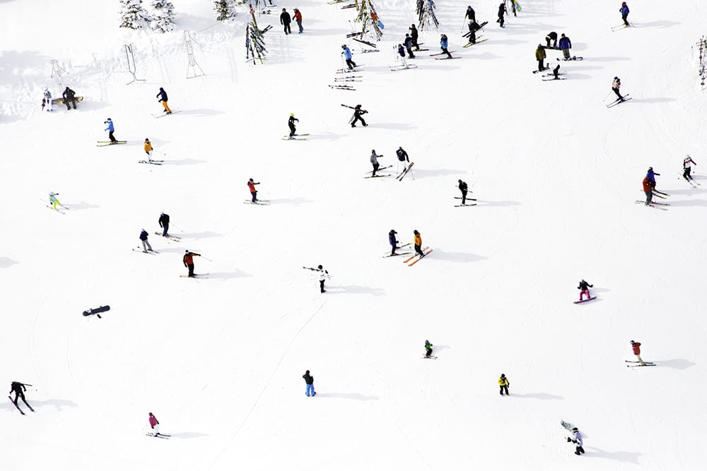 Gray Malin, Top of Aspen Mountain from Á La Montage North America series, 2012, print on archival luster paper ©Gray Malin 2013