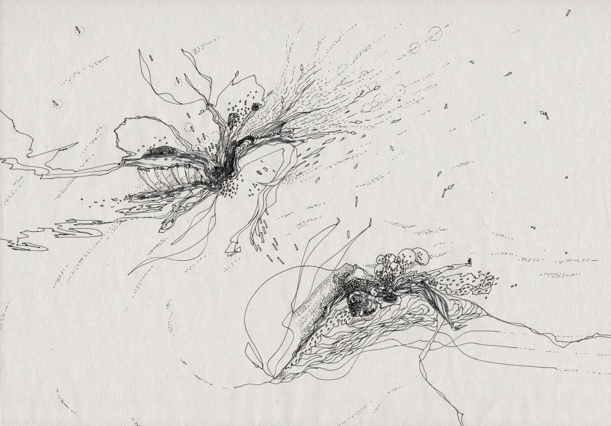 Yosuke Tan (untangle) & Robert Malte Engelsmann (kaeghoro), Synergy 02 (detail), drawing on paper, 265 x 363 mm, 2013, drawing collaboration ©Robert Malte Engelsmann