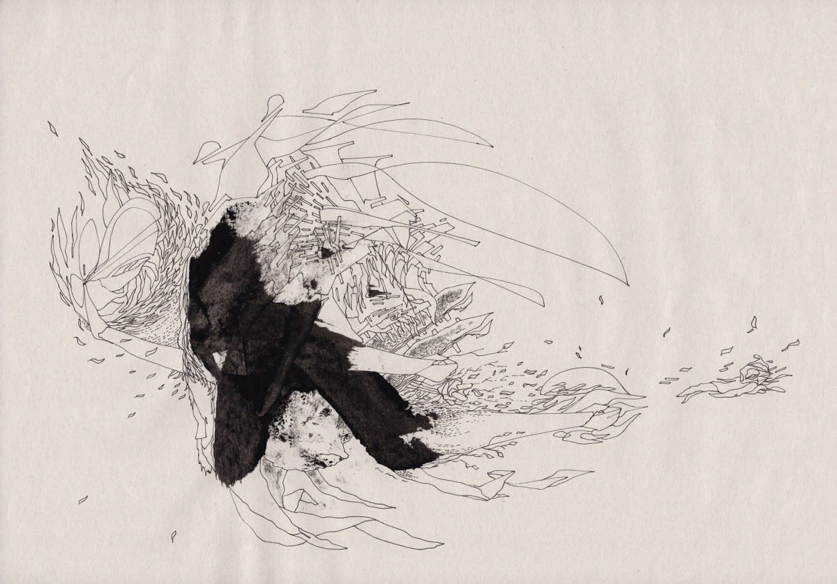 Robert Malte Engelsmann (kaeghoro), Enter the Dragon 08 from Enter the Dragon series, drawing & mixed media on paper, 265 x 363 mm, 2013 ©Robert Malte Engelsmann