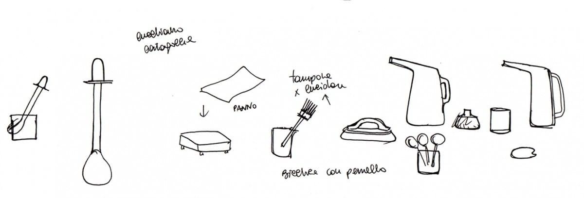 Taste of Wood first set sketches ©Antonio Arico