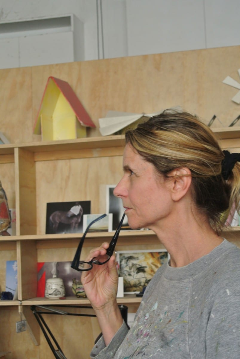 Lisa Adams in her studio © Installation Magazine