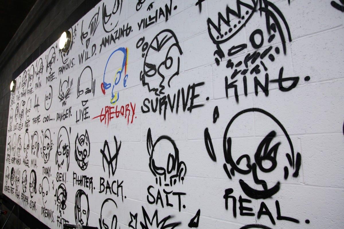 Siren Studios Wall.  Photo by Nobody Photography aka James Moreno