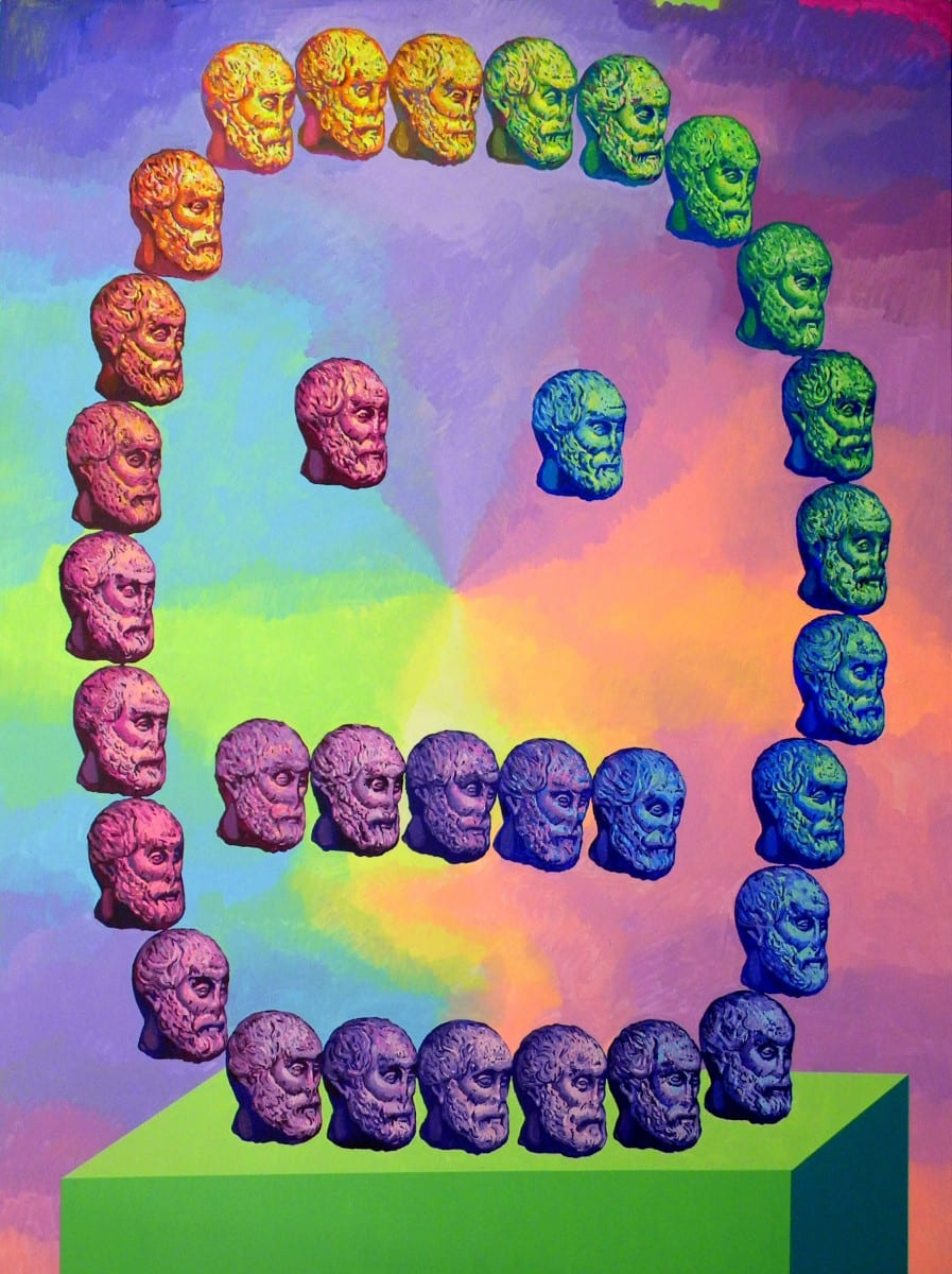 "Mathew Zefeldt, Head-Face, acrylic on canvas, 96"" x 72"", 2012, ©Mathew Zefeldt"