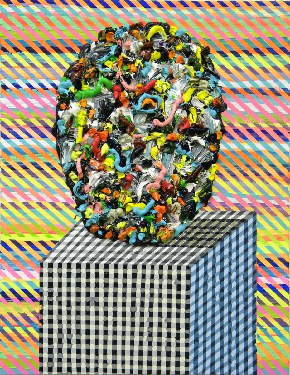 "Mathew Zefeldt, Imagined Object #4, oil and acrylic on canvas, 18""x14"", 2012"