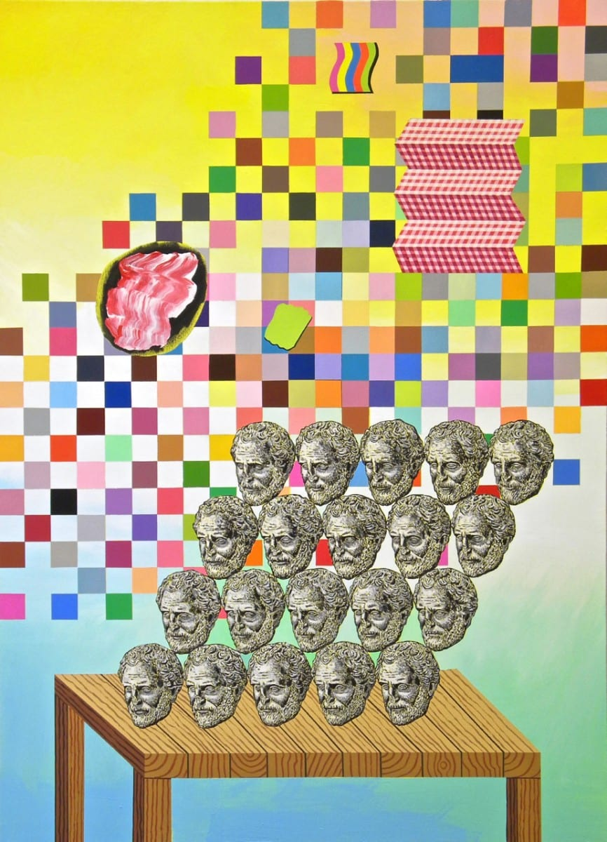 Mathew Zefeldt, Head-Face, 2012, Acrylic on Canvas, 96 x 72 inches