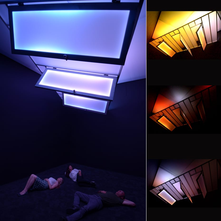 """Danial Nord, No Exit, installation of 2013 California-Pacific Triennial at the Orange County Museum of Art, 1' x 15' x 14'6"""", 2013, photographs by Gene Ogami ©Danial Nord"""