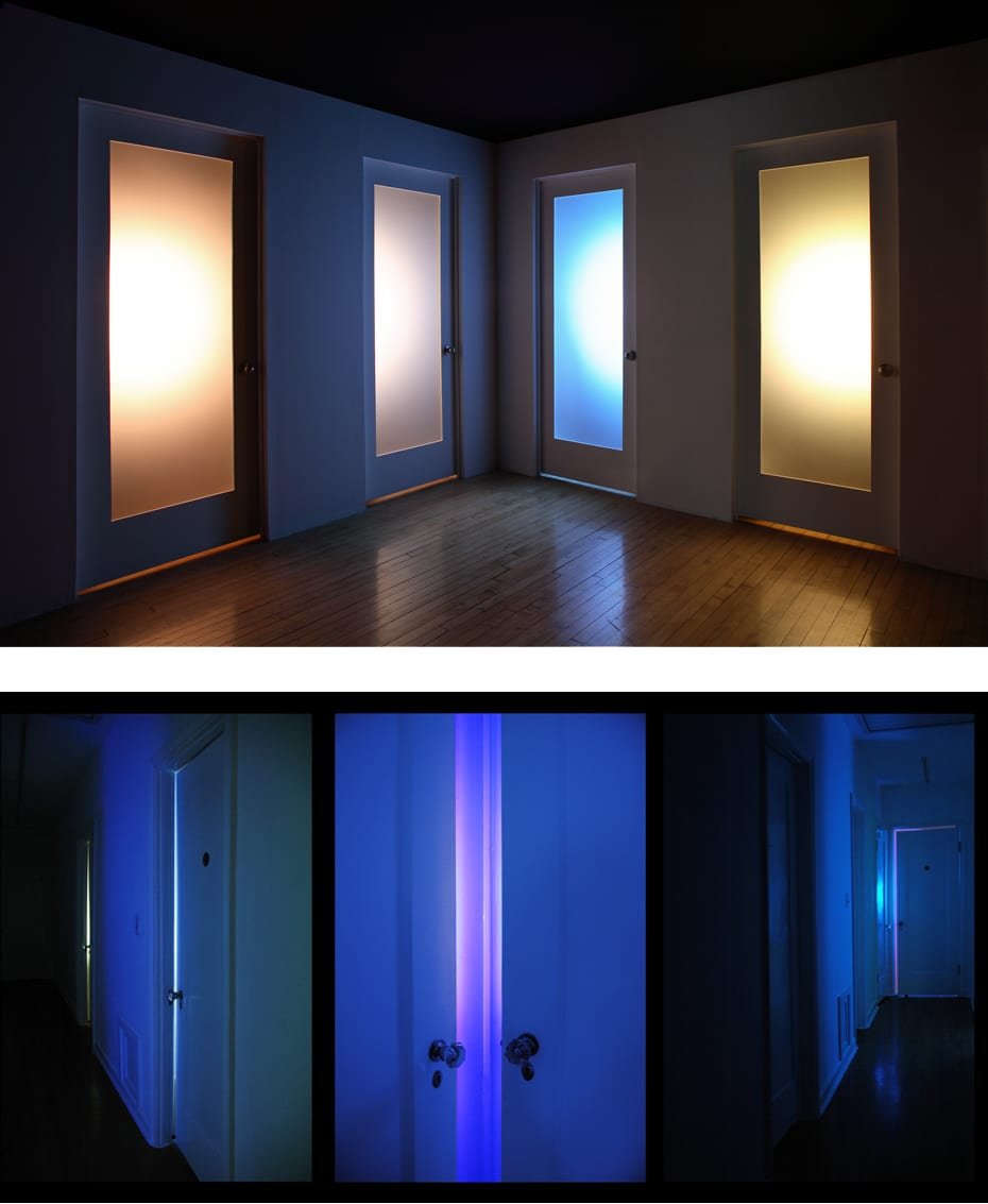 ABOVE: Danial Nord, Private, installation for UCR/California Museum of Photography, 16' x 16' x 8', 2009 ©Danial Nord BOTTOM: Danial Nord, Private, installation at HAUS, Pasadena, CA, 22' x 8' x 8', 2007 ©Danial Nord